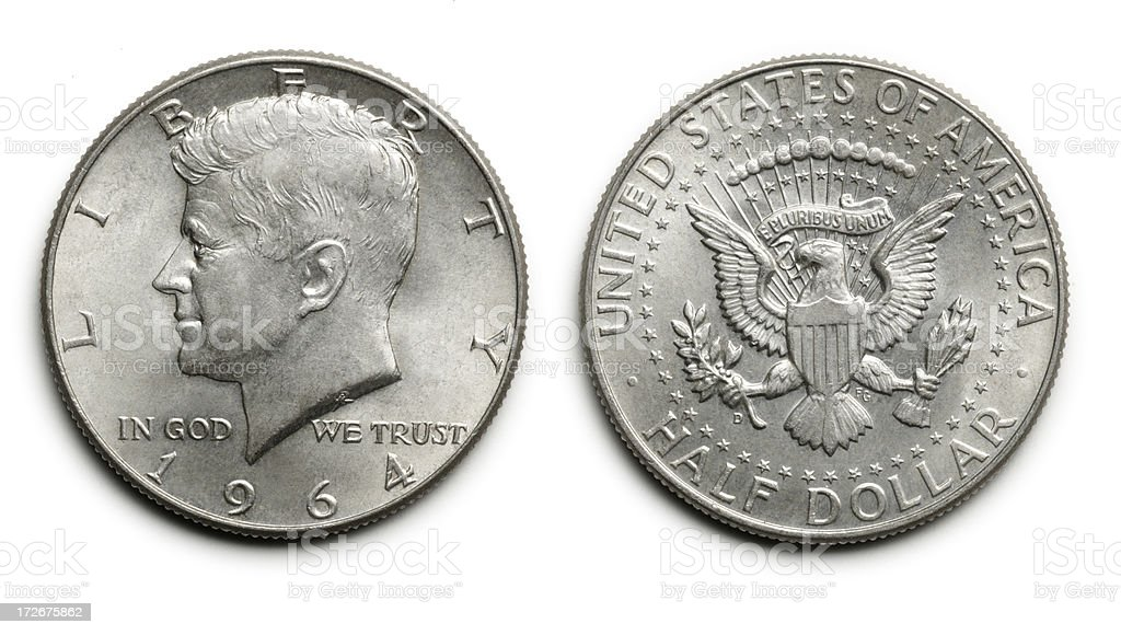 Kennedy Fifty Cent Piece stock photo