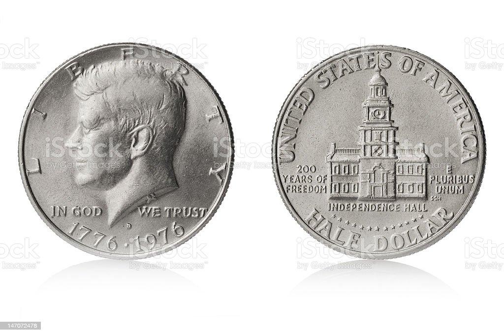 Kennedy half dollar stock photo