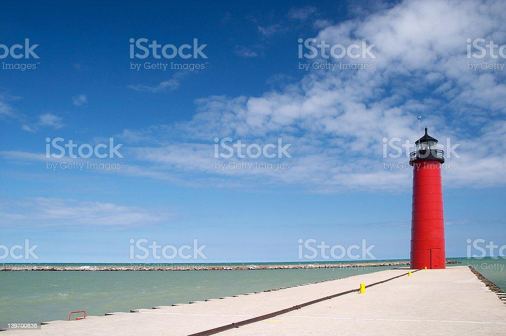 Kenosha Lighthouse stock photo