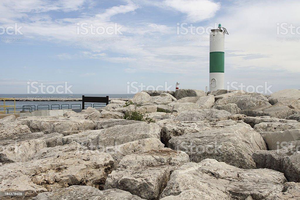 Kenosha, Wisconsin harbor front stock photo