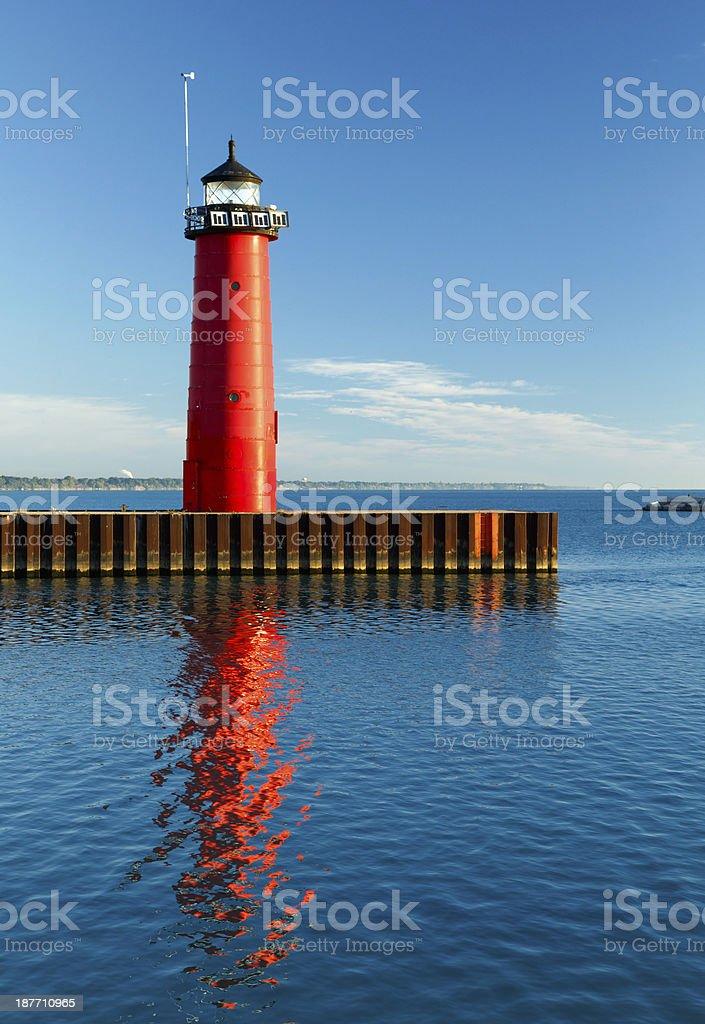 Kenosha, Wisconsin Pierhead Light stock photo