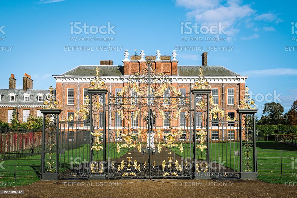 Kensington Palace in London, England. UK stock photo