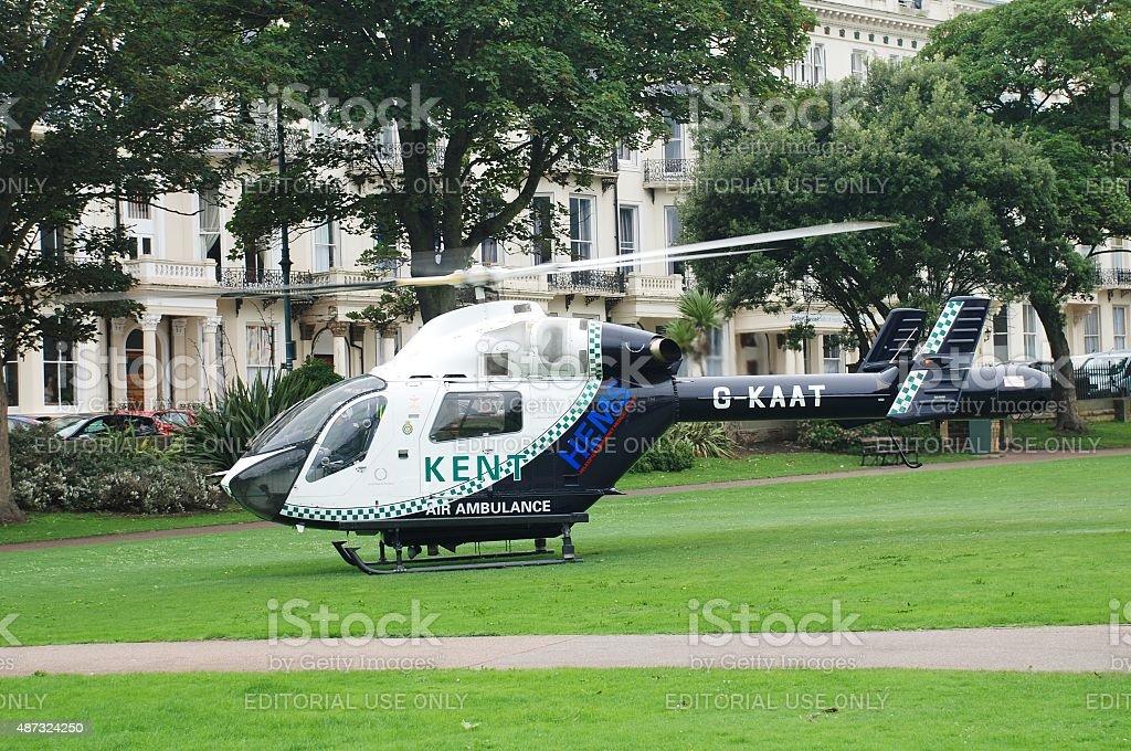 Kent Air Ambulance, England stock photo