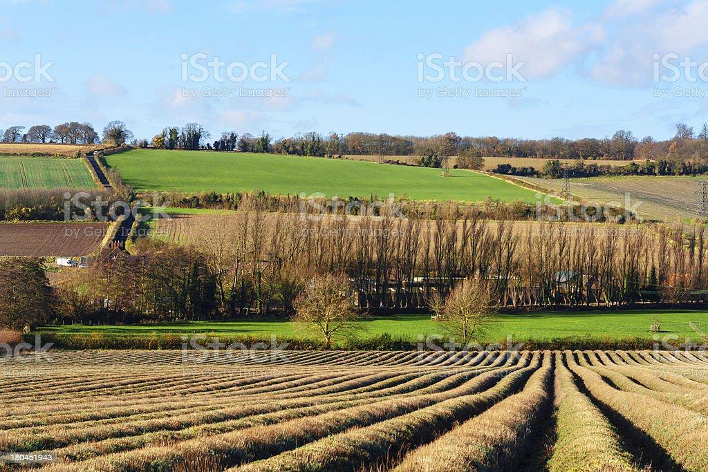 kent countryside uk Darent Valley stock photo