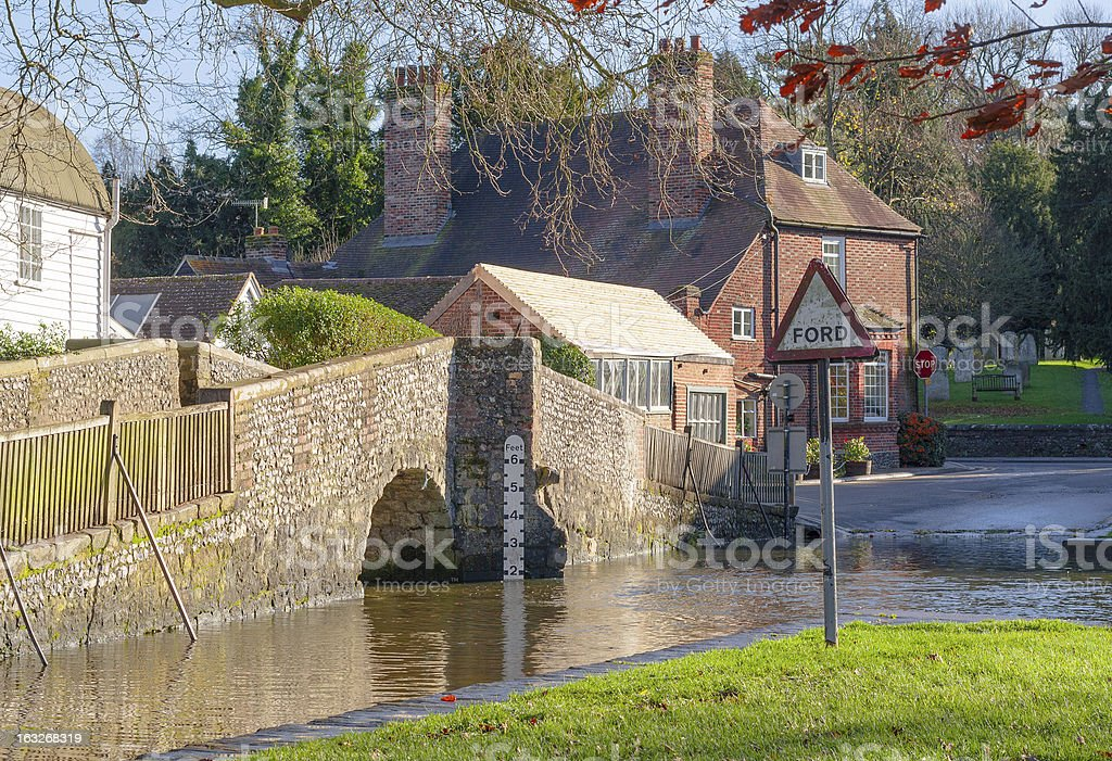 kent countryside uk eynsford crossing stock photo