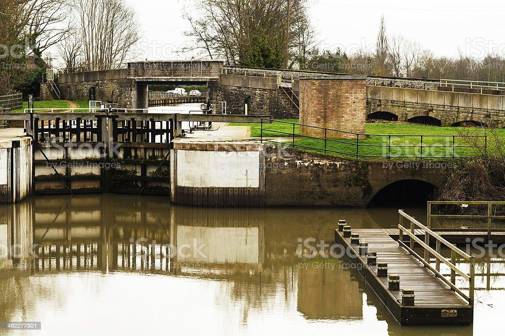 Kent Countryside UK Yalding near Maidstone. stock photo