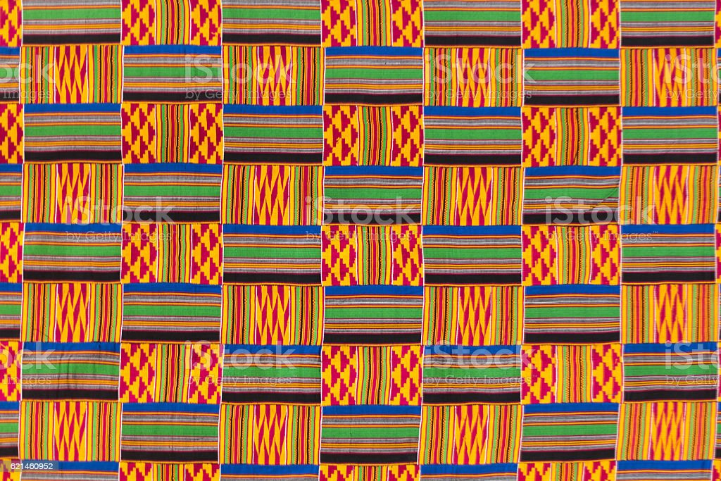 Kente cloth texture. stock photo