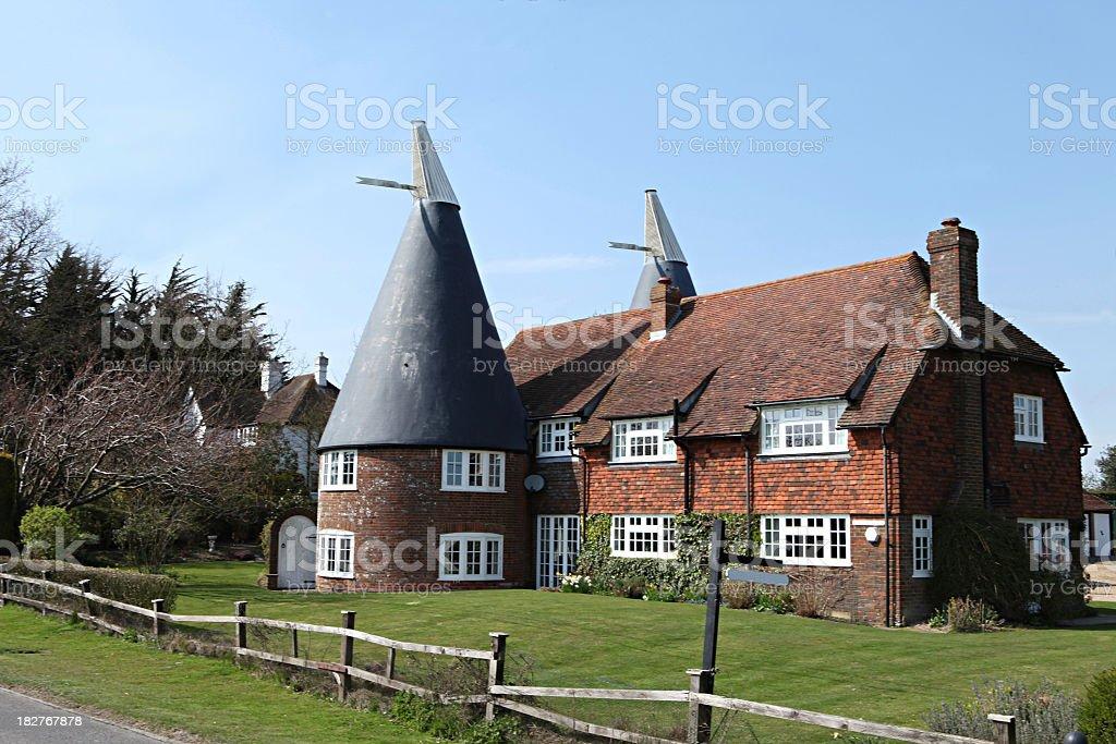 Kentish Oast House, Kent, England, UK stock photo
