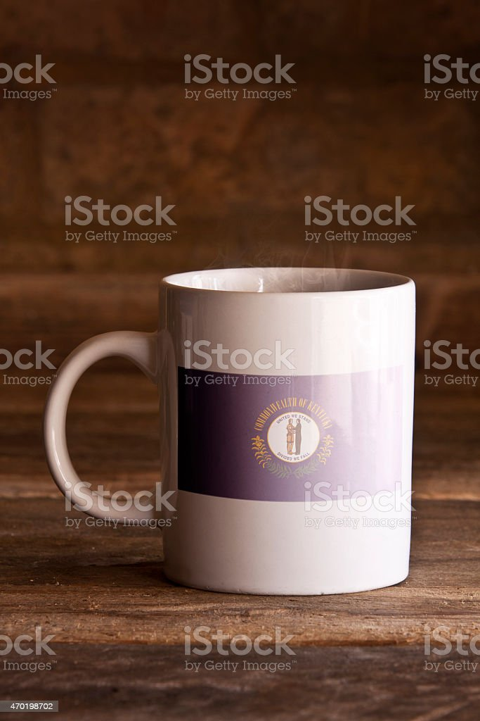 Kentucky Mug on Wooden Background stock photo