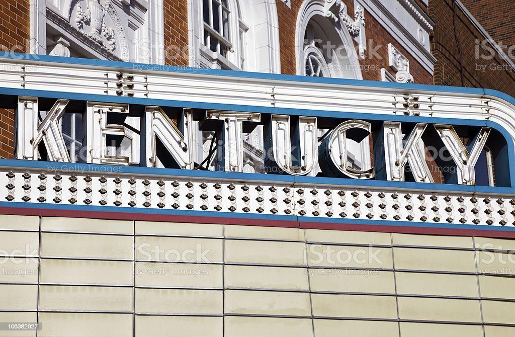 Kentucky sign stock photo