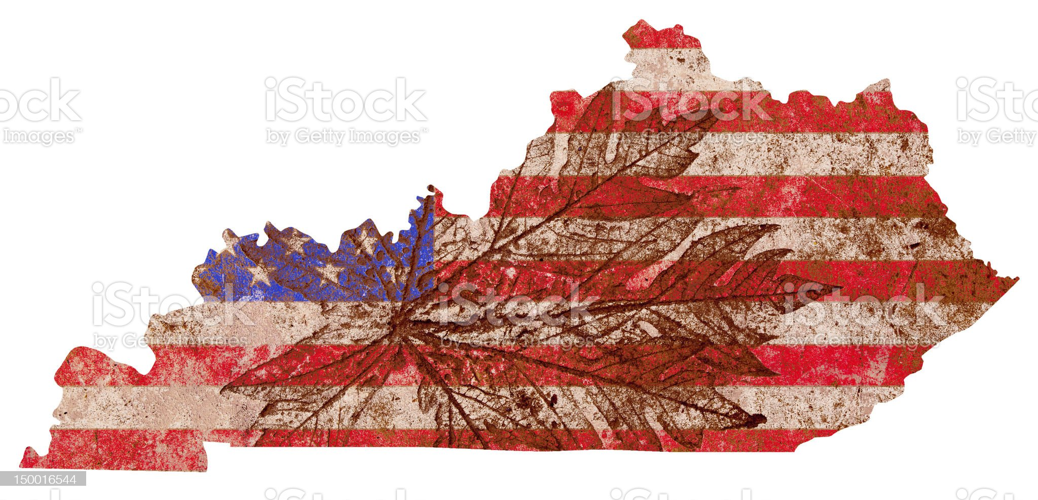 Kentucky State Map Flag Pattern royalty-free stock photo