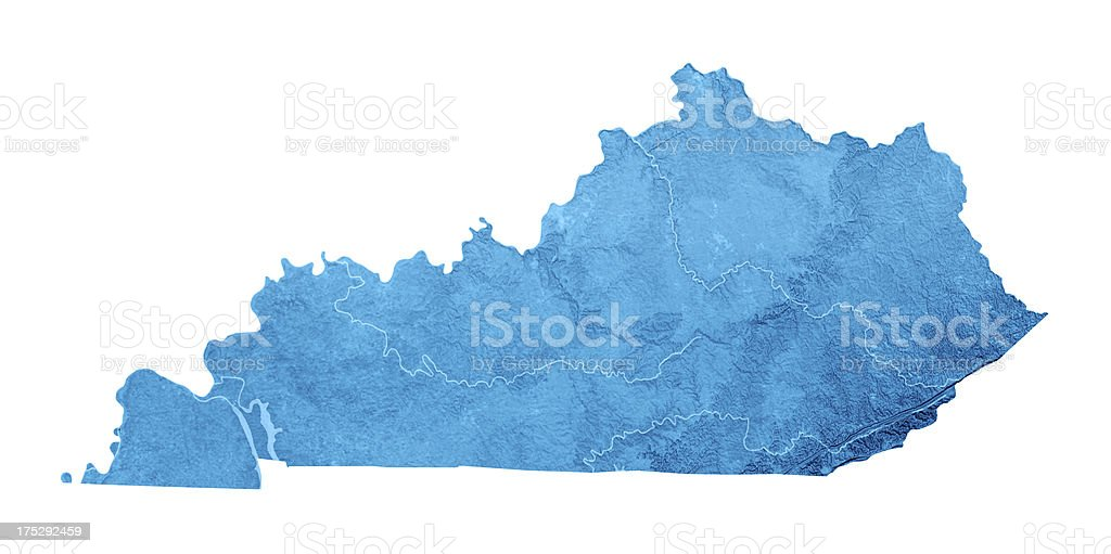 Kentucky Topographic Map Isolated stock photo