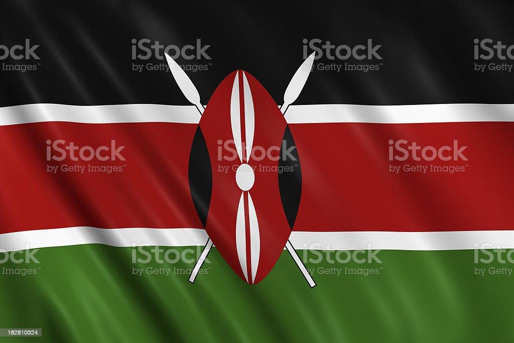 kenya flag royalty-free stock photo