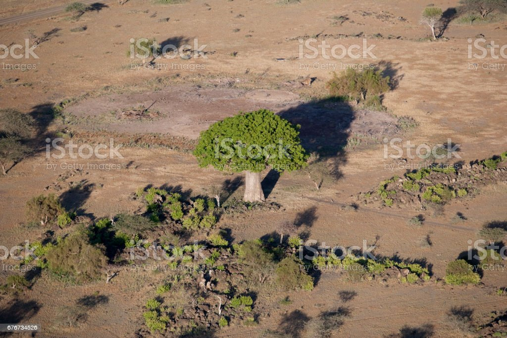 Kenya from the air stock photo