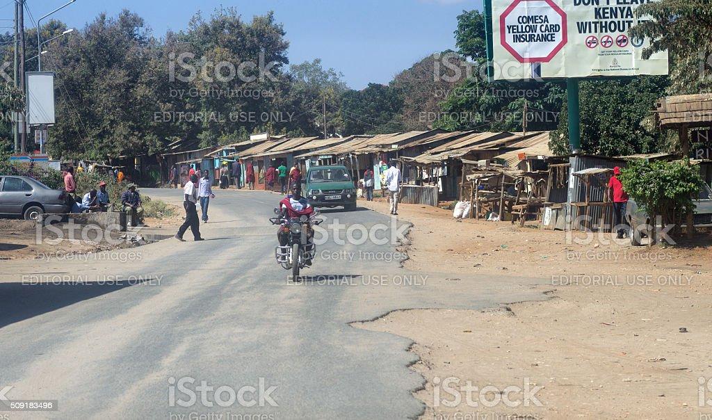 Kenya Street Scene stock photo