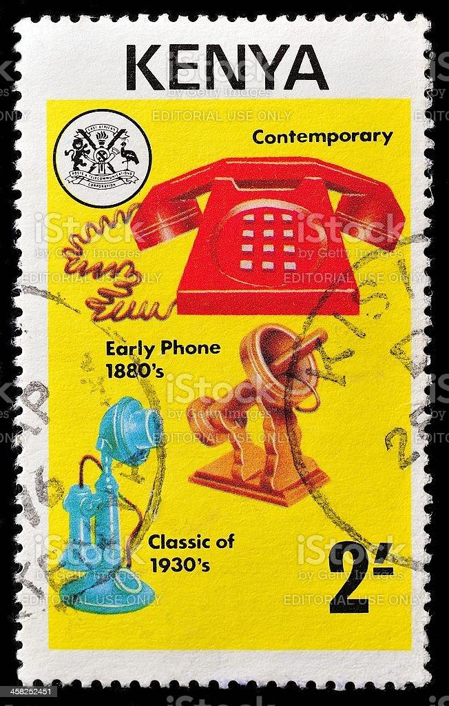 Kenyan Postage Stamp royalty-free stock photo