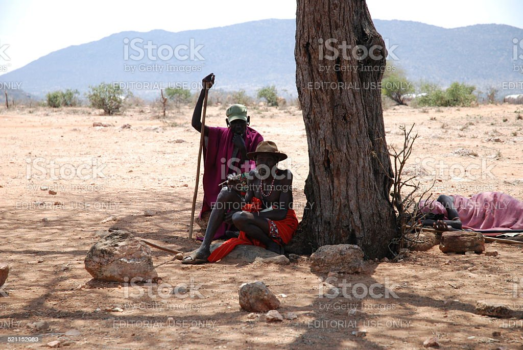 Kenyan Village Chieftain stock photo