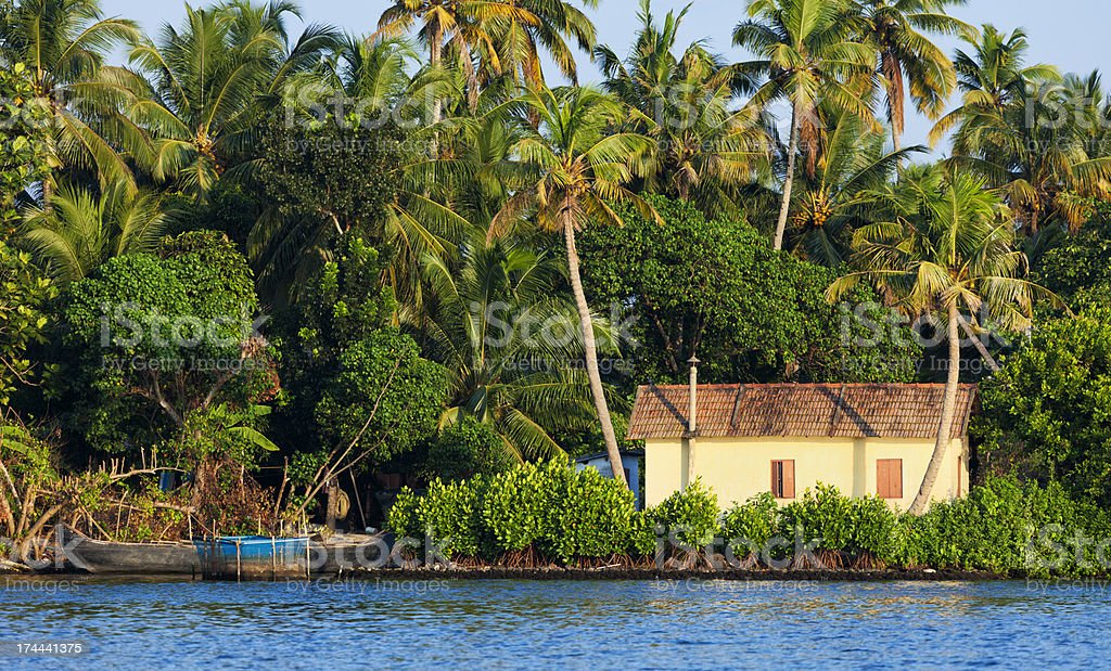 Kerala backwaters royalty-free stock photo