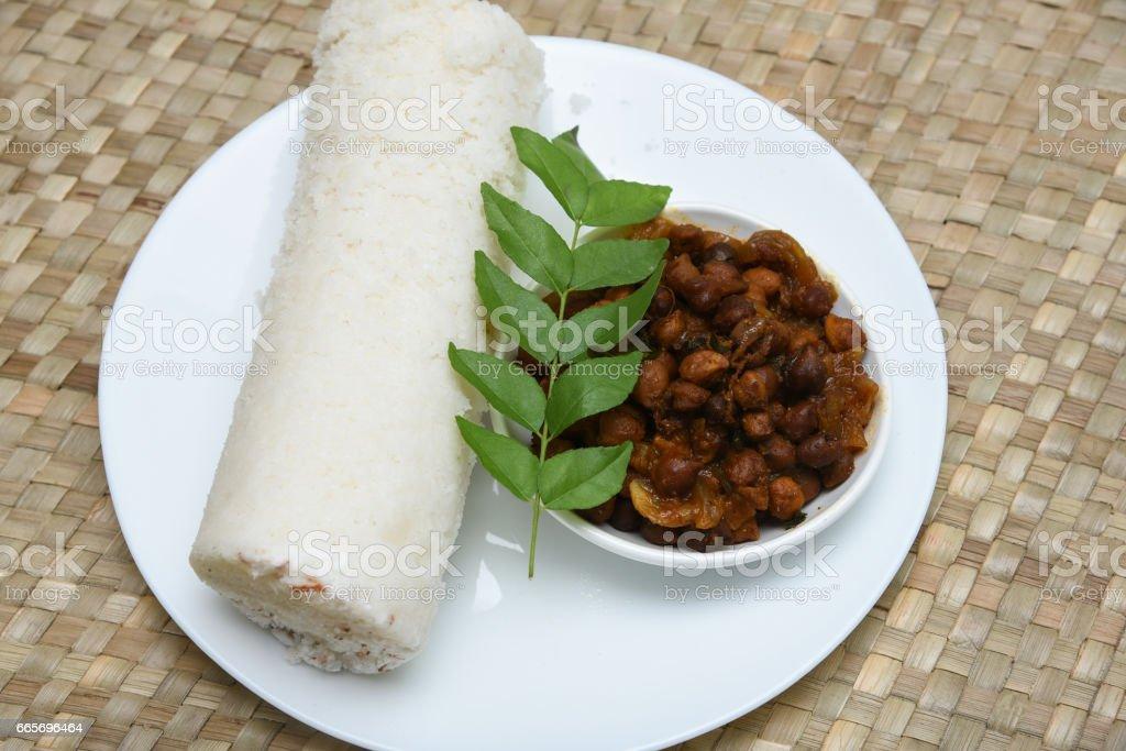 Kerala breakfast Puttu stock photo