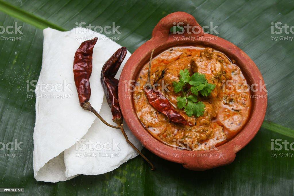 Kerala breakfast Rice pathir Pathiri stock photo