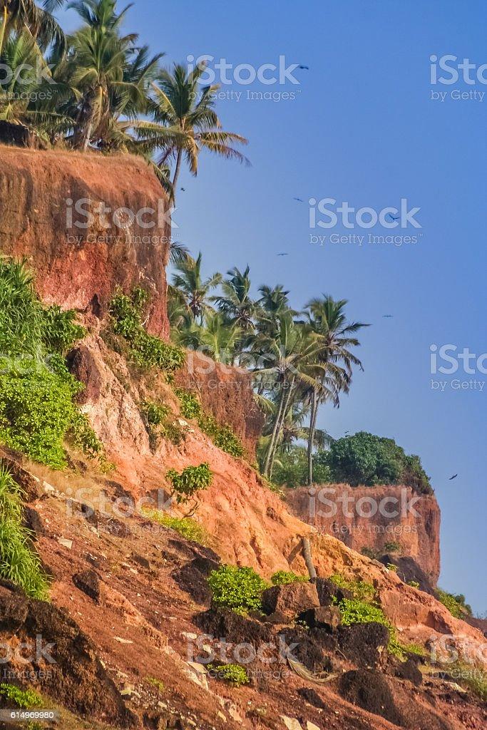 Kerala cliffs stock photo