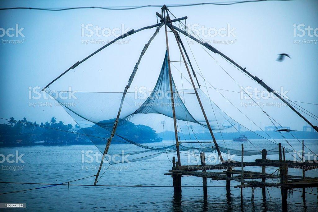 Kerala Fishing Village stock photo
