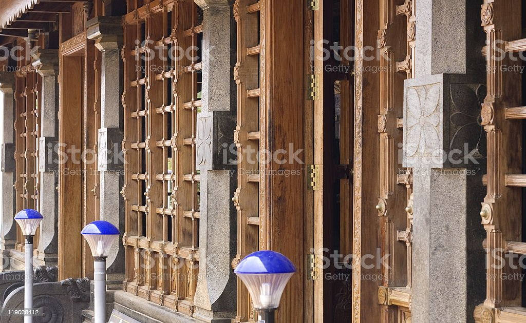kerala house stock photo