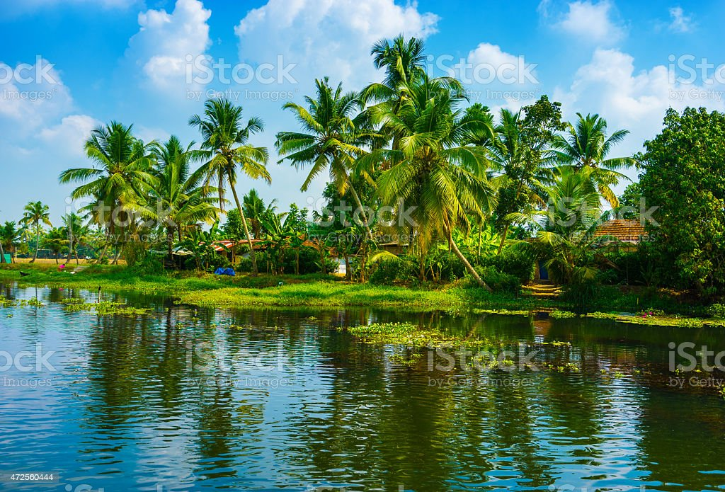 Kerala India Canal stock photo