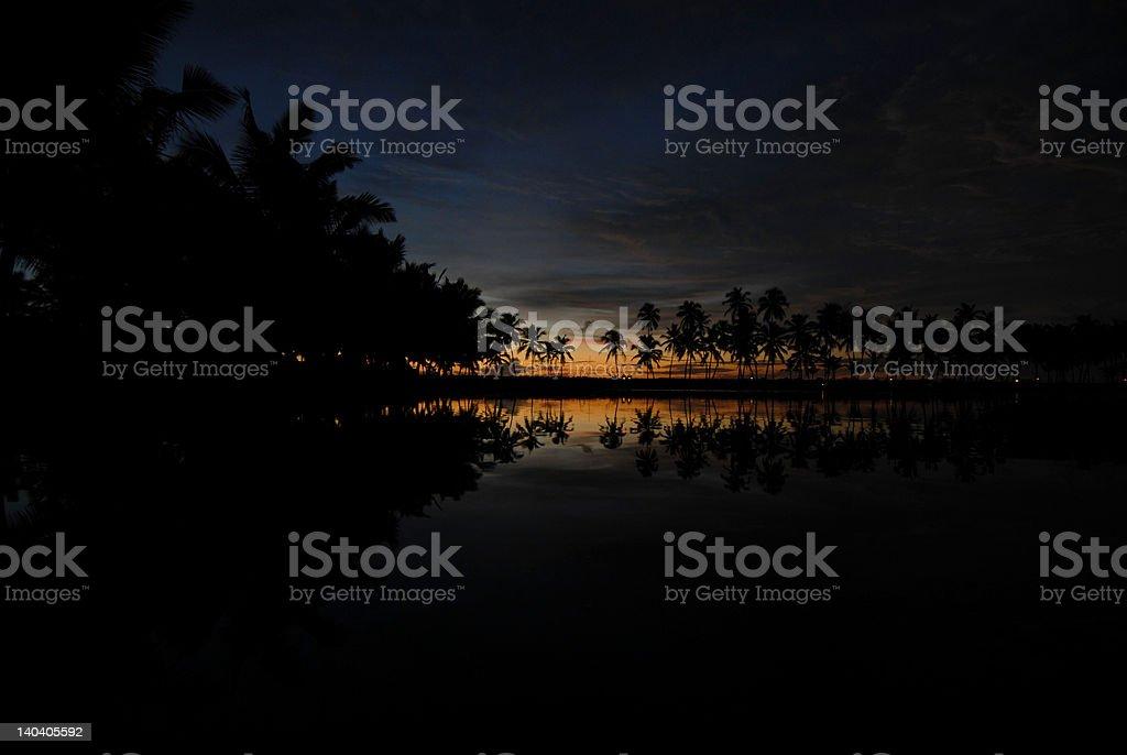 Kerala Lagoon royalty-free stock photo