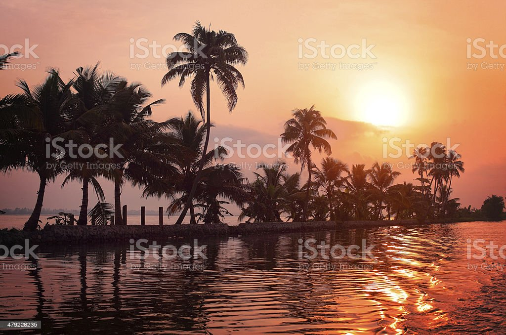 Kerala sunrise stock photo