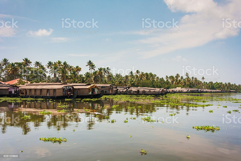 Kerala waterways and boats stock photo