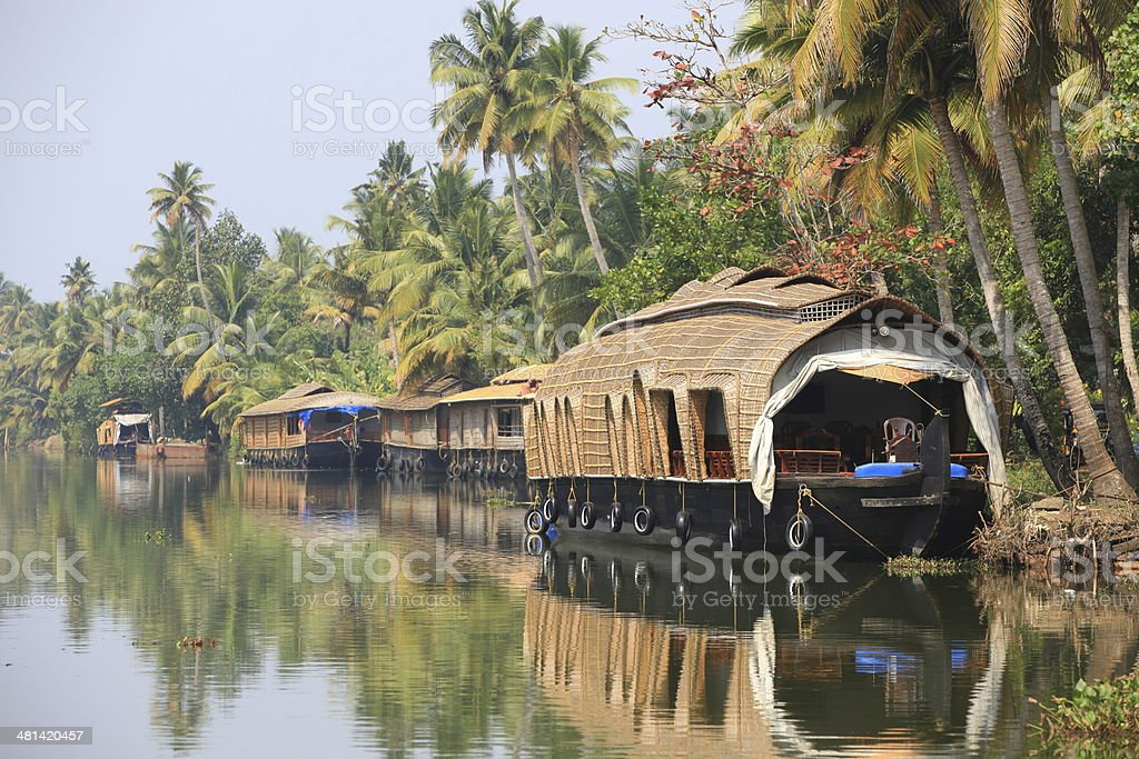 Kerala's backwaters stock photo