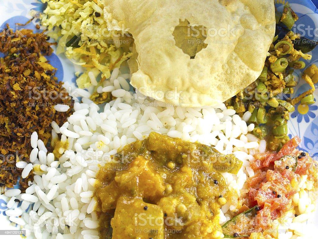 Kerela Thali stock photo