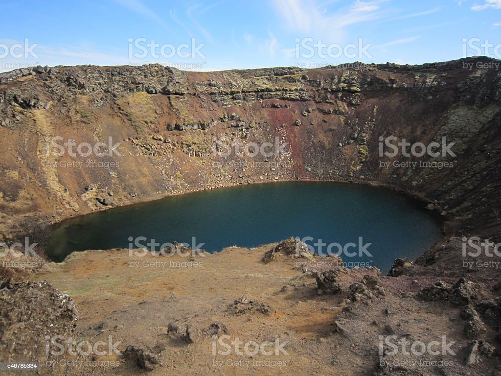Kerið Crater, Iceland stock photo