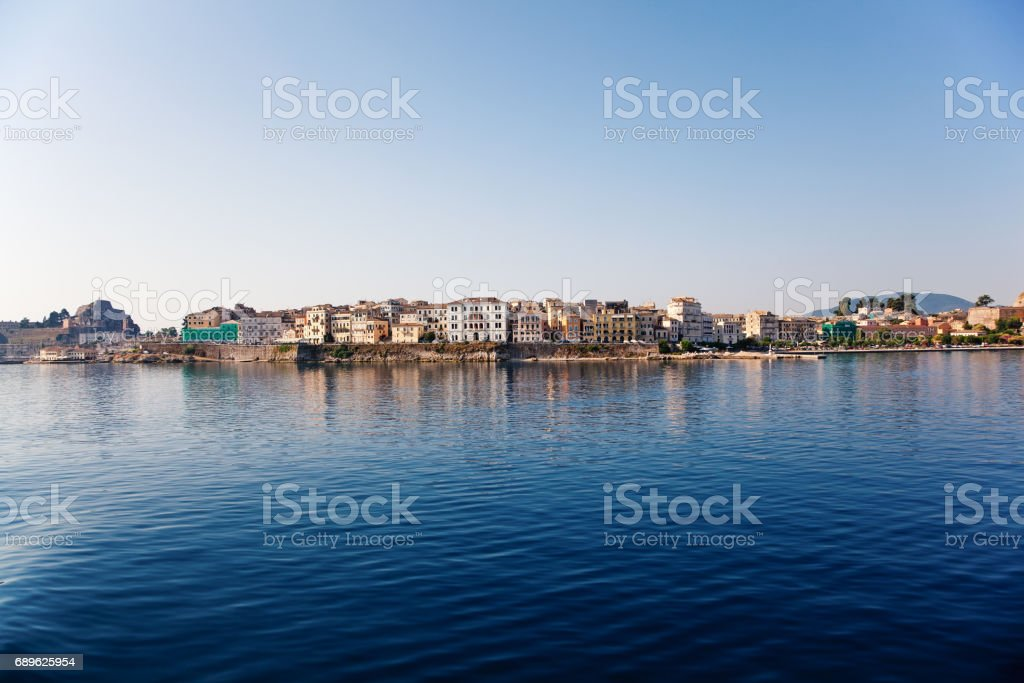Kerkyra, Corfu Island, Greece - June 22, 2015: Kerkyra (Corfu) town on the West coast of the of Corfu Island in the Aegean sea. Greece. stock photo