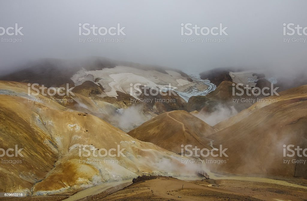 Kerlingarfjoll or The Ogress' Mountains stock photo