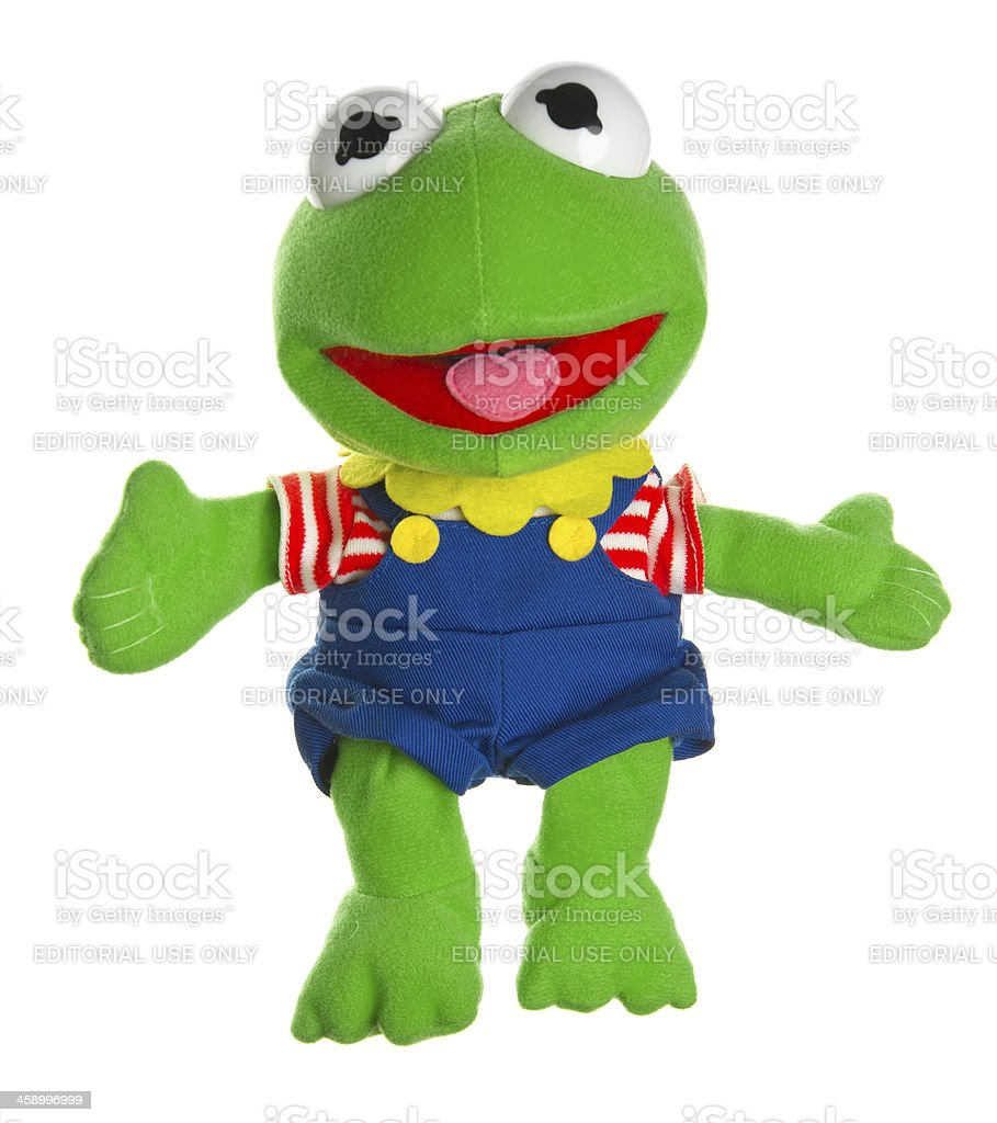 Kermit the Frog from Muppet Show and Sesame Street stock photo
