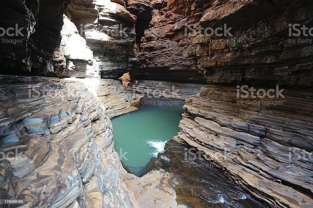 Kermits Pool in Hancock Gorge at Karijini National Park stock photo