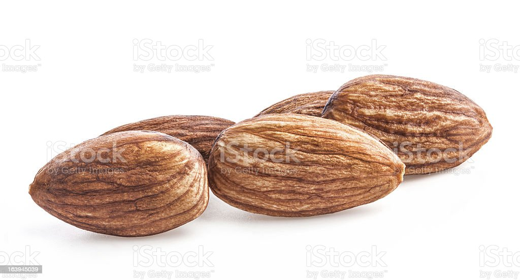 Kernel of almonds royalty-free stock photo