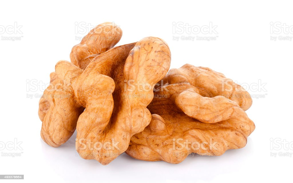 Kernel walnut stock photo
