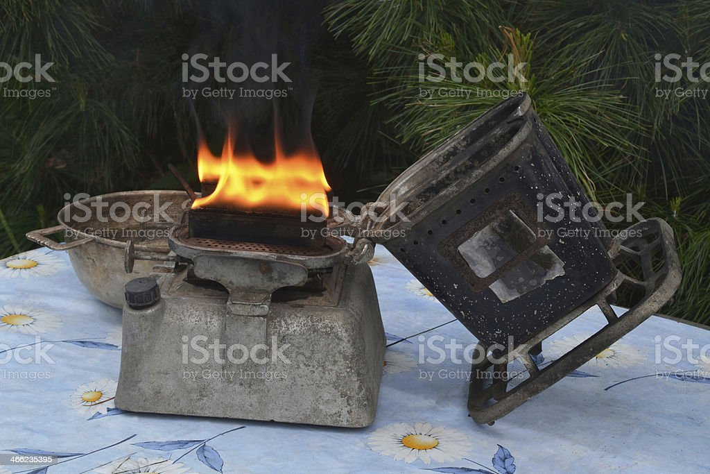 Kerosene device stock photo