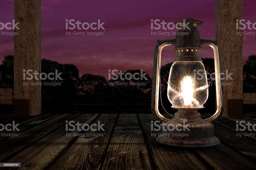 Kerosene lantern stock photo