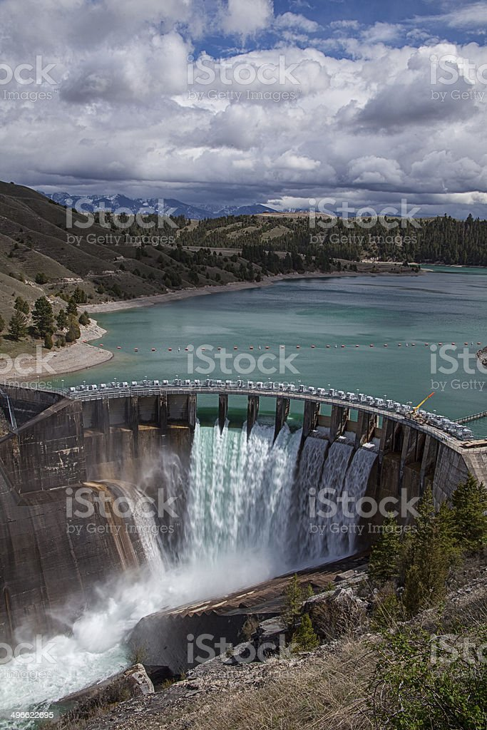 Kerr Dam near Polson, Montana stock photo