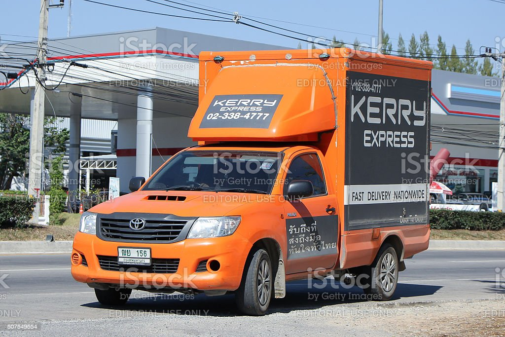 Kerry logistic Container Pickup truck stock photo