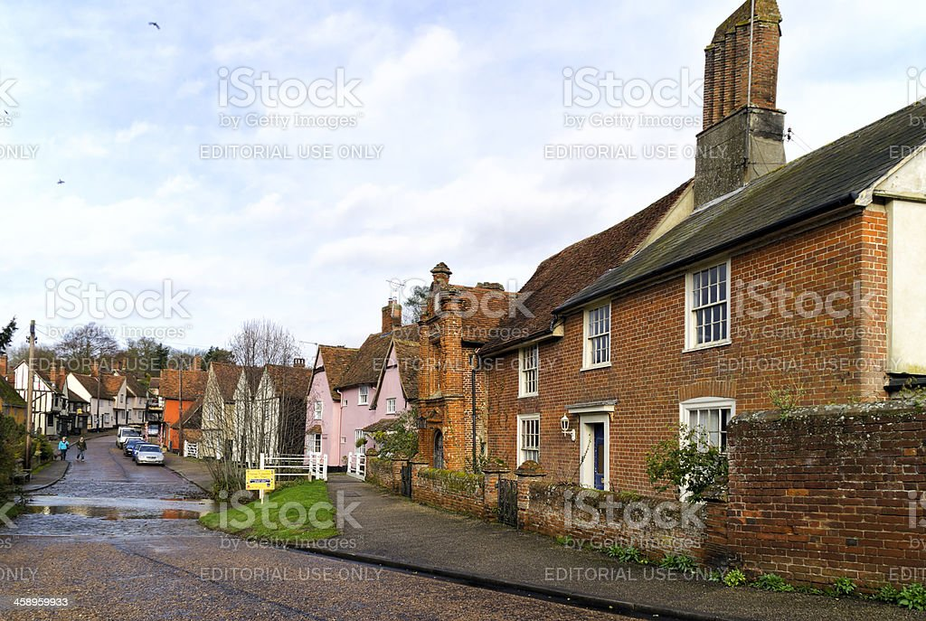 Kersey street with ford royalty-free stock photo
