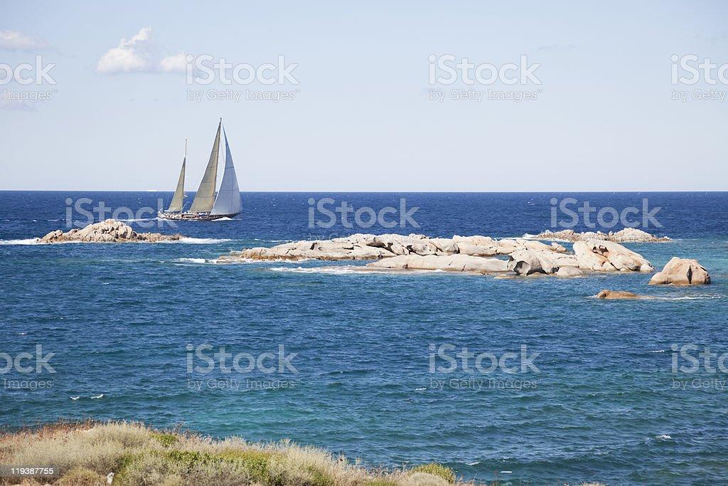 Ketch sailboat royalty-free stock photo