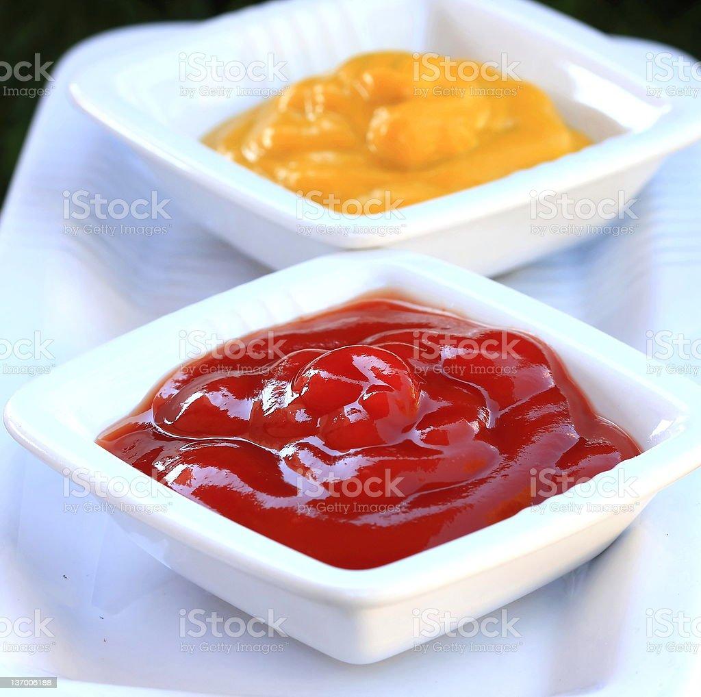ketchup and mustard royalty-free stock photo