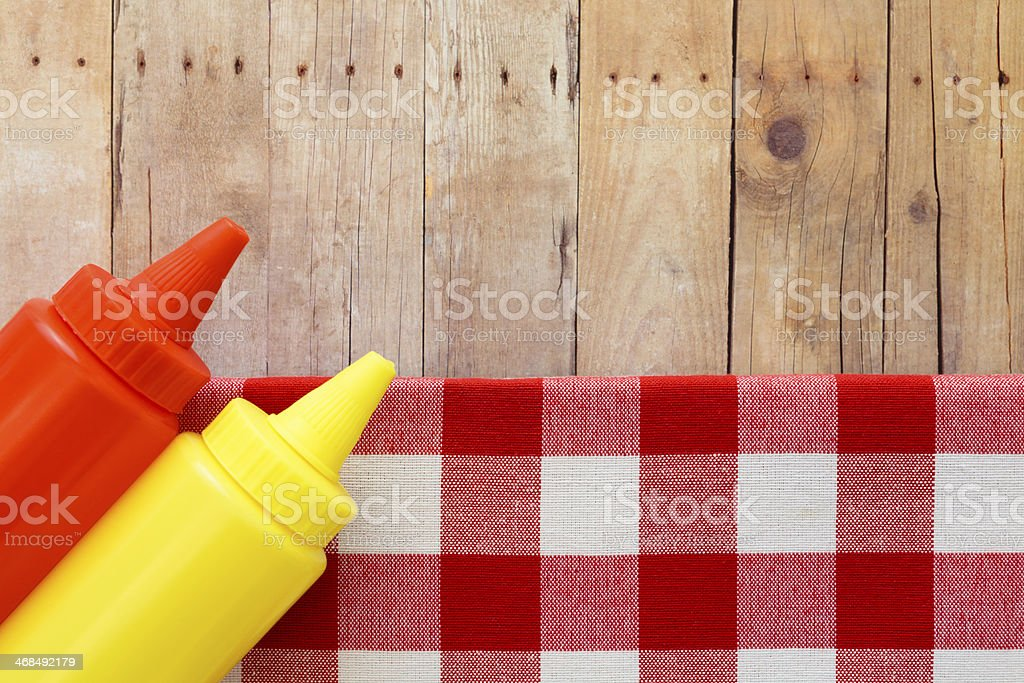 Ketchup and Mustard stock photo