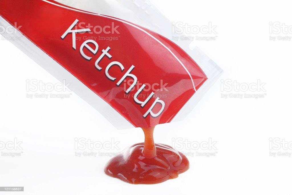Ketchup packet stock photo