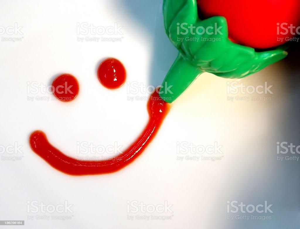 ketchup smile royalty-free stock photo